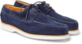 John Lobb - Isle Suede Boat Shoes