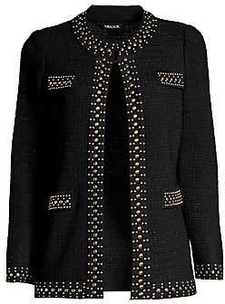 Misook Women's Stud-Trim Textured Jacket
