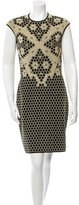 Alexander McQueen Sheath Honeycomb Dress