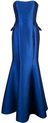 Marchesa Long Strapless Dress