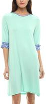 Mint & Polka Dot-Cuff Shift Dress