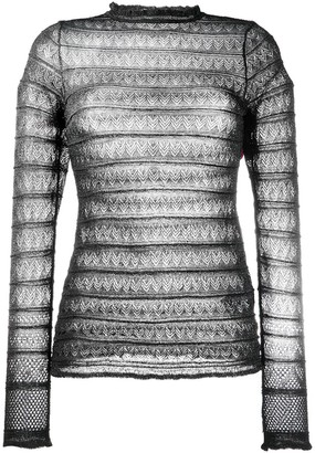 M Missoni Slim-Fit Lace Top
