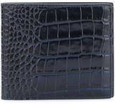 Smythson crocodile effect wallet - men - Leather - One Size