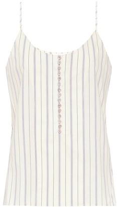 Chloã© Striped cotton camisole