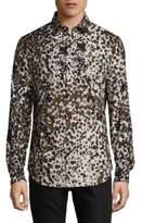 Roberto Cavalli Watercolor Cotton Button-Down Shirt