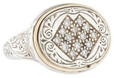 Konstantino Tow Tone Diamond Signet Ring