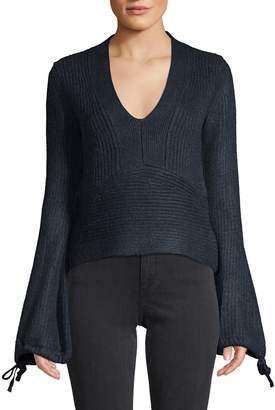 Love Token Gail Bell-Sleeve Sweater