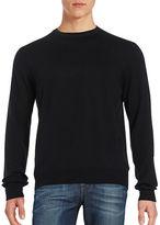 Black Brown 1826 Wool Crew Neck Sweater