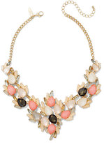 New York & Co. Beaded Cluster Bib Necklace