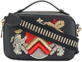 Alberta Ferretti Crest embellished bag