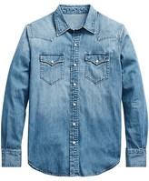 Thumbnail for your product : Ralph Lauren Purple Label Western Denim Button-Down Shirt