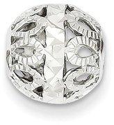 goldia 14k or White or Rose Gold Diamond-cut Filigree Ball Chain Slide