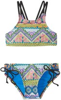 Hobie Girls' Desert Daze High Neck Bikini Set (714) - 8152011