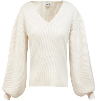 Loewe Balloon-sleeve Sweater - Ivory