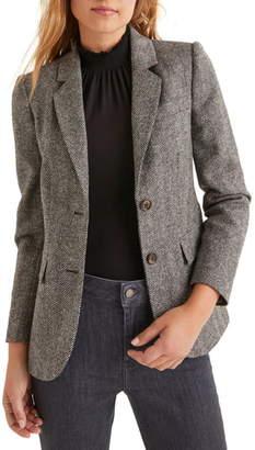 Boden Smyth Herringbone Tweed Wool Blazer