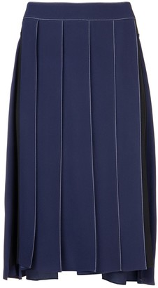 Marni Contrast Stitch Pleated Skirt