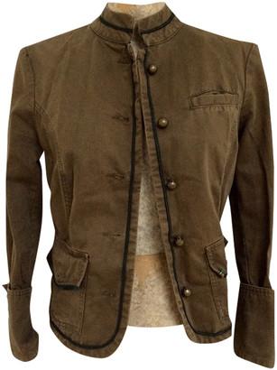 Zara Khaki Cotton Jackets