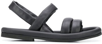Del Carlo Padded Leather Sandals