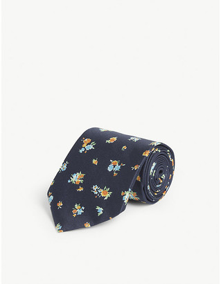 Eton Floral-print silk tie