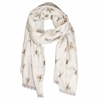 Wrendale Designs Wild at Heart Cream Stag Scarf