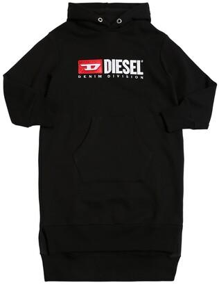 Diesel Logo Patch Cotton Sweatshirt Dress