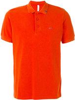 Sun 68 contrast logo polo shirt - men - Cotton - L