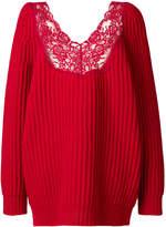Balenciaga Lingerie V-neck Sweater