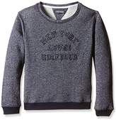 Tommy Hilfiger Girl's Printed Round Collar Long sleeve Sweatshirt - Blue / Grey ( Black Iris )