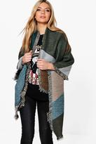 Boohoo Lena Colour Block Oversized Blanket Scarf