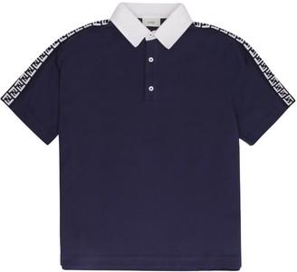 Fendi Cotton Pique Polo Shirt
