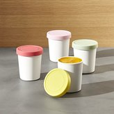 Crate & Barrel Mini Ice Cream Tubs Set of Four