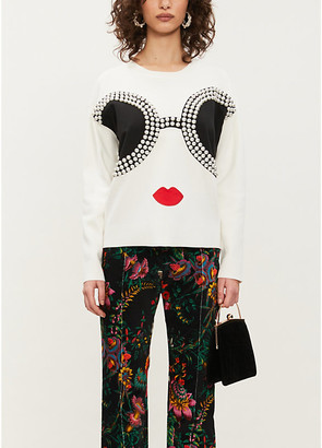 Alice + Olivia Alice & Olivia Gleeson Staceface stretch-wool jumper