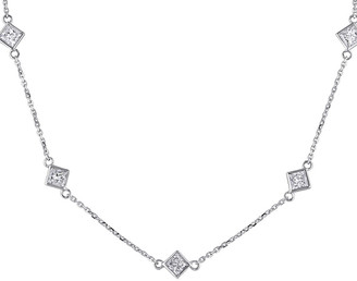 Diamond Select Cuts 14K 1.25 Ct. Tw. Diamond Station Necklace