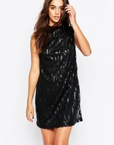 Motel Radella Shift Dress With Tear Sequin Embellishment