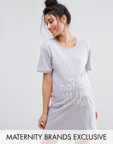 Emma Jane Hands Off Button Front Nursing Nightdress