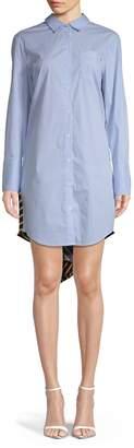 Tommy Hilfiger High-Low Striped Shirtdress