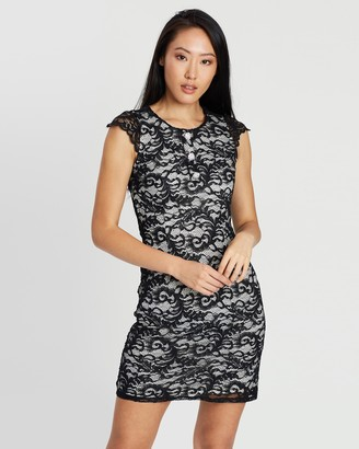 Dorothy Perkins Embellished Button Lace Dress