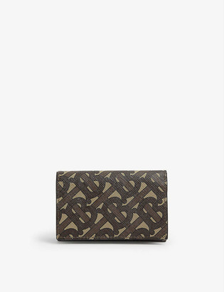Burberry Monogram print leather wallet