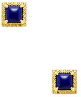 Ila Pomelo Canary Yellow Diamond & Lapis Stud Earrings