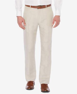 Perry Ellis Men Classic-Fit Linen Blend Herringbone Pants