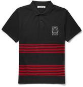 McQ by Alexander McQueen Striped Cotton-Piqué Polo Shirt
