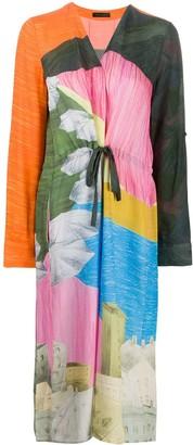 Stine Goya Illustrative Midi Dress