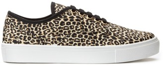 La Redoute Collections Recycled Flatform Trainers in Leopard Print