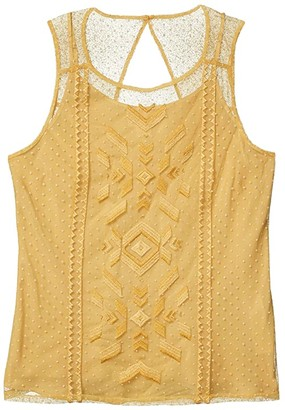 Ariat Mesh With Me Tank Top (Gold Dust) Women's Clothing
