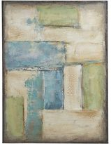 Pier 1 Imports Coastal Patches Abstract Art