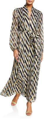 Figue Solana Golden-Threaded Silk Kimono