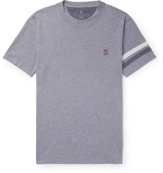 Brunello Cucinelli Striped Melange Cotton-Jersey T-Shirt