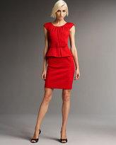 Boatneck Peplum Dress