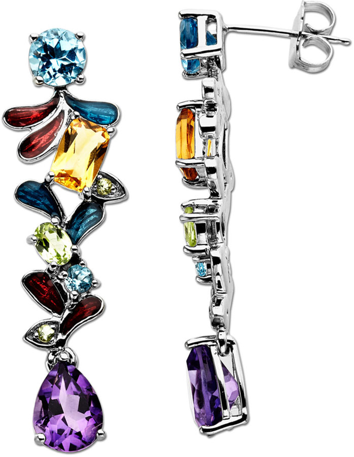 Lord & Taylor Multi-Stone Drop in Sterling Silver