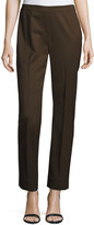Lafayette 148 New York Bleecker Straight-Leg Pants, Espresso